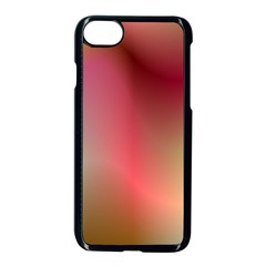 Colorful Colors Wave Gradient Apple Iphone 7 Seamless Case (black)