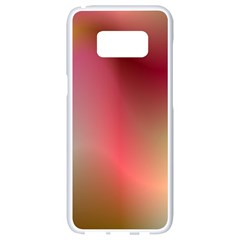Colorful Colors Wave Gradient Samsung Galaxy S8 White Seamless Case