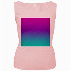 Background Pink Blue Gradient Women s Pink Tank Top by BangZart