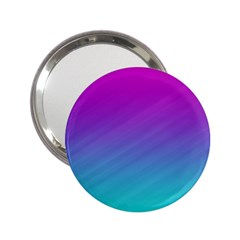 Background Pink Blue Gradient 2 25  Handbag Mirrors