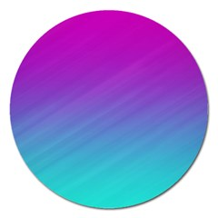 Background Pink Blue Gradient Magnet 5  (round) by BangZart