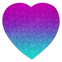 Background Pink Blue Gradient Jigsaw Puzzle (heart) by BangZart