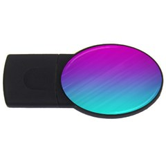 Background Pink Blue Gradient Usb Flash Drive Oval (4 Gb)
