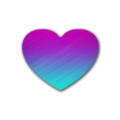 Background Pink Blue Gradient Rubber Coaster (heart)