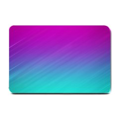 Background Pink Blue Gradient Small Doormat