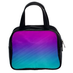 Background Pink Blue Gradient Classic Handbags (2 Sides) by BangZart