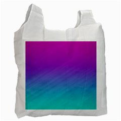 Background Pink Blue Gradient Recycle Bag (one Side)