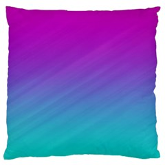 Background Pink Blue Gradient Large Cushion Case (one Side)