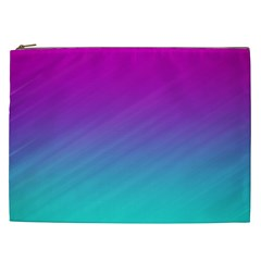 Background Pink Blue Gradient Cosmetic Bag (xxl)