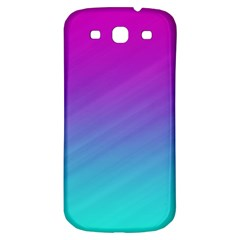 Background Pink Blue Gradient Samsung Galaxy S3 S Iii Classic Hardshell Back Case by BangZart