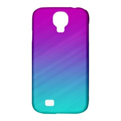 Background Pink Blue Gradient Samsung Galaxy S4 Classic Hardshell Case (pc+silicone)