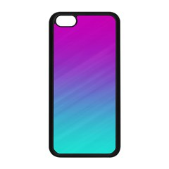 Background Pink Blue Gradient Apple Iphone 5c Seamless Case (black) by BangZart
