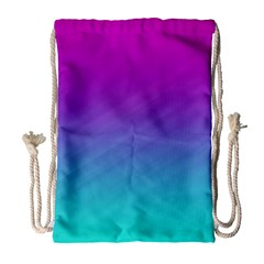 Background Pink Blue Gradient Drawstring Bag (large)