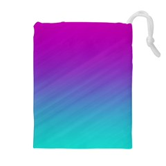 Background Pink Blue Gradient Drawstring Pouches (extra Large)
