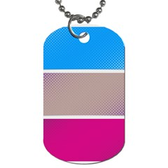 Pattern Template Banner Background Dog Tag (two Sides) by BangZart