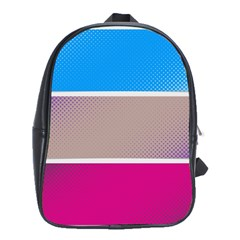 Pattern Template Banner Background School Bag (large)