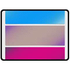 Pattern Template Banner Background Double Sided Fleece Blanket (large)