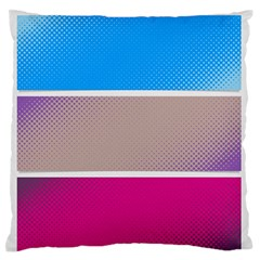 Pattern Template Banner Background Large Flano Cushion Case (two Sides)