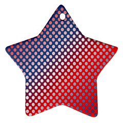 Dots Red White Blue Gradient Ornament (star)