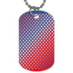 Dots Red White Blue Gradient Dog Tag (one Side)