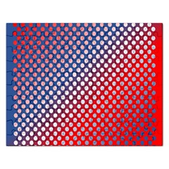 Dots Red White Blue Gradient Rectangular Jigsaw Puzzl by BangZart