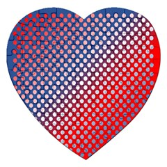 Dots Red White Blue Gradient Jigsaw Puzzle (heart) by BangZart