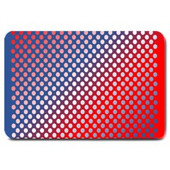 Dots Red White Blue Gradient Large Doormat  by BangZart
