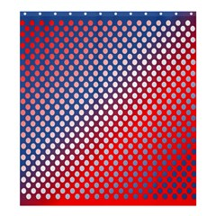 Dots Red White Blue Gradient Shower Curtain 66  X 72  (large)