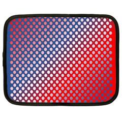 Dots Red White Blue Gradient Netbook Case (xl)