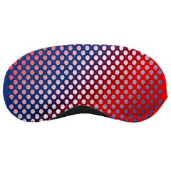Dots Red White Blue Gradient Sleeping Masks