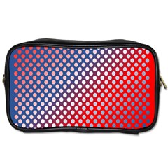 Dots Red White Blue Gradient Toiletries Bags by BangZart