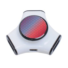 Dots Red White Blue Gradient 3 Port Usb Hub