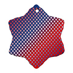 Dots Red White Blue Gradient Ornament (snowflake) by BangZart