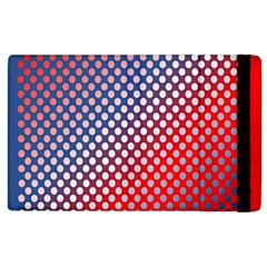 Dots Red White Blue Gradient Apple Ipad 3/4 Flip Case by BangZart