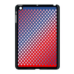 Dots Red White Blue Gradient Apple Ipad Mini Case (black)