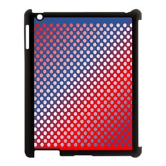 Dots Red White Blue Gradient Apple Ipad 3/4 Case (black) by BangZart