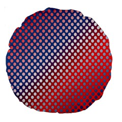 Dots Red White Blue Gradient Large 18  Premium Round Cushions by BangZart