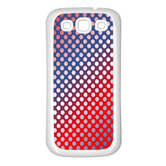 Dots Red White Blue Gradient Samsung Galaxy S3 Back Case (white)