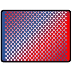 Dots Red White Blue Gradient Double Sided Fleece Blanket (large)  by BangZart