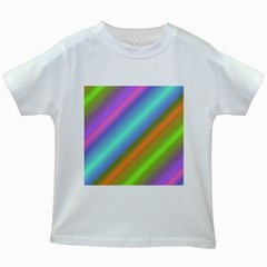 Background Course Abstract Pattern Kids White T Shirts