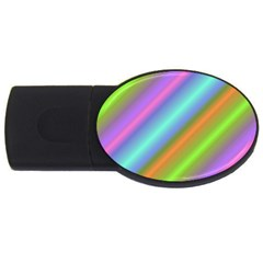 Background Course Abstract Pattern Usb Flash Drive Oval (4 Gb)