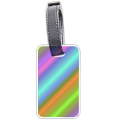 Background Course Abstract Pattern Luggage Tags (one Side)