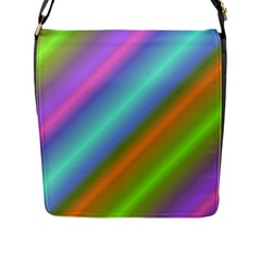 Background Course Abstract Pattern Flap Messenger Bag (l)