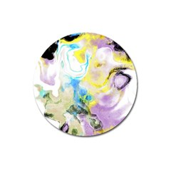 Watercolour Watercolor Paint Ink Magnet 3  (round) by BangZart