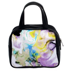 Watercolour Watercolor Paint Ink Classic Handbags (2 Sides) by BangZart