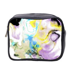 Watercolour Watercolor Paint Ink Mini Toiletries Bag 2 Side