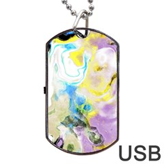 Watercolour Watercolor Paint Ink Dog Tag Usb Flash (two Sides) by BangZart