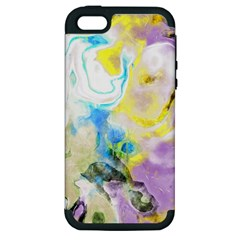 Watercolour Watercolor Paint Ink Apple Iphone 5 Hardshell Case (pc+silicone)