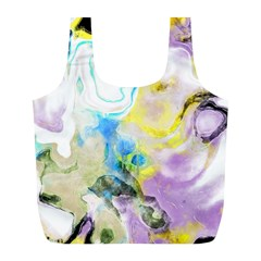 Watercolour Watercolor Paint Ink Full Print Recycle Bags (l)  by BangZart