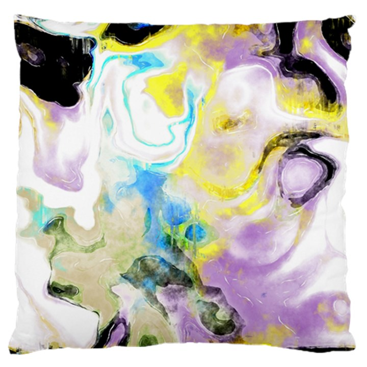 Watercolour Watercolor Paint Ink Standard Flano Cushion Case (One Side)